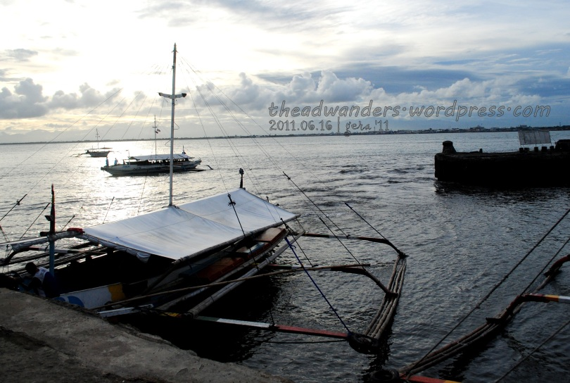 Leaving Guimaras just before the sun sets