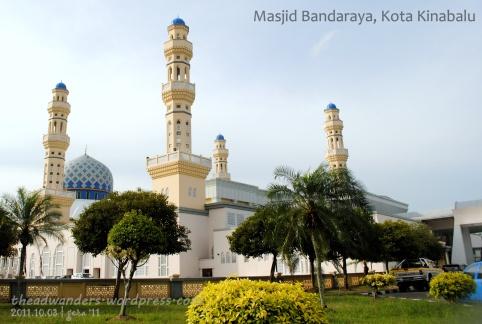 Masjid Bandaraya from inside the complex