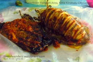 Grilled Tuna and BIG Squid in Spicy Sauce