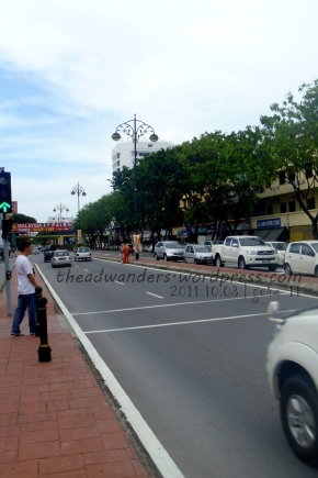 Not-so-busy KK City Center street