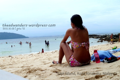 Reflecting about life (CHAR!) at Sapi Island, TAR Marine Park