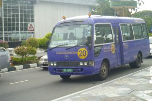 Purple Bus - I think this bus heads to Yayasan. Public transport is not common as most Bruneians have cars