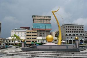 The Sultan's 60th Birthday Monument and buildings in downtown BSB
