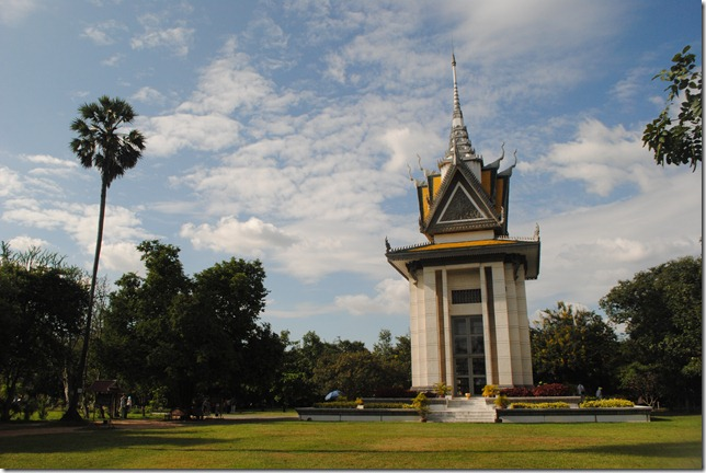 Cheong Ek Genocidal Center (Killing Fields) Memorial Stupa