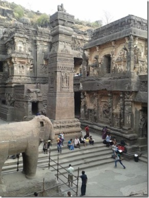 Elephant and Pillar at Kailash
