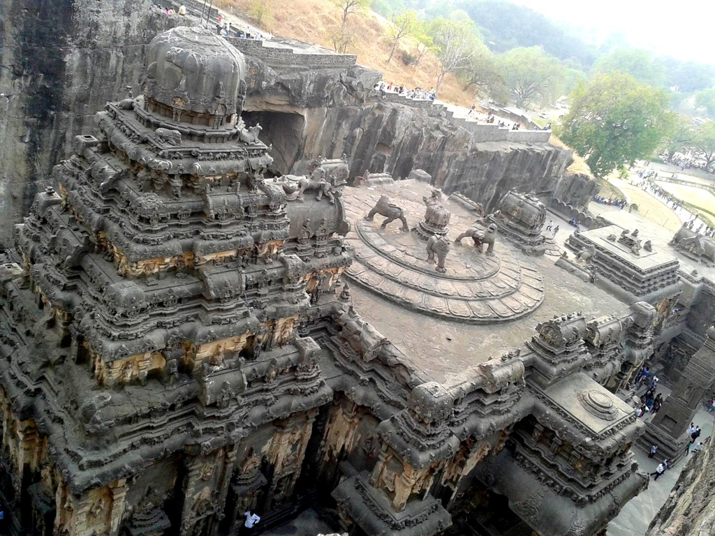 View from the Top: Kailash Temple and its ornate designs and carvings ...