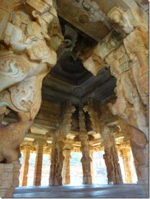 Pillars of Kalyana Mandapa - Hampi