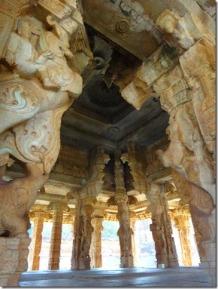 Pillars of Kalyana Mandapa - Hampi