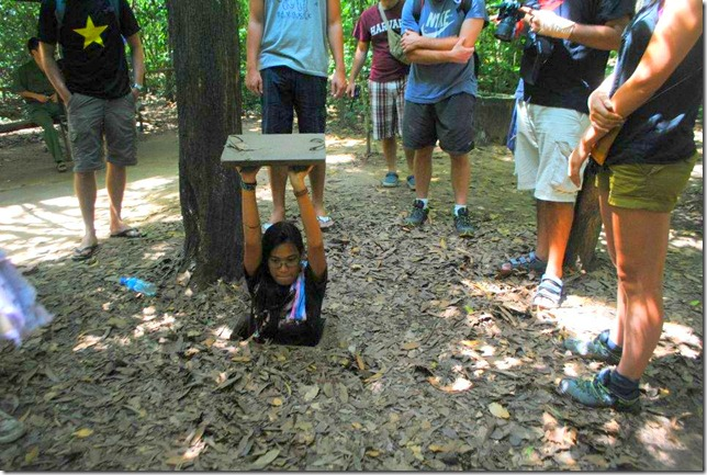 Backpacking SEA Vietnam Cu Chi Tunnels - Entry Door 4