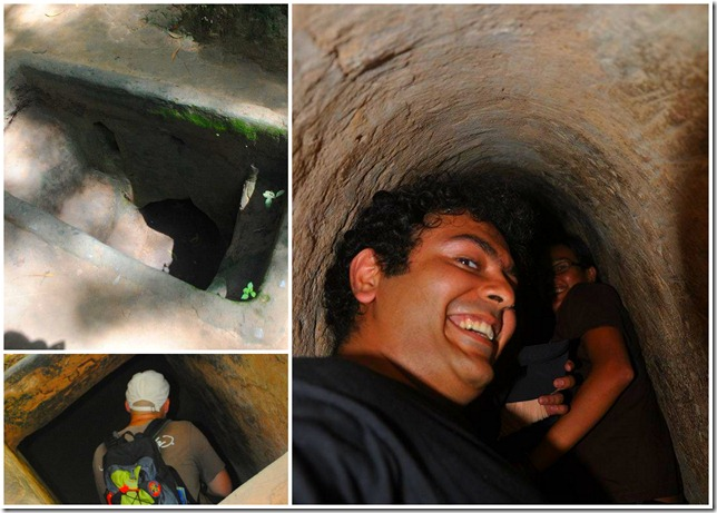 Backpacking SEA Vietnam Cu Chi Tunnels - Into the Tunnel