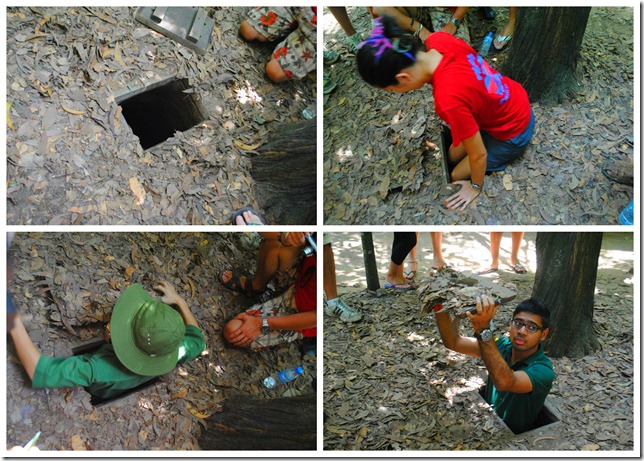 Backpacking SEA Vietnam Cu Chi Tunnels - Secret Entry to the Tunnels