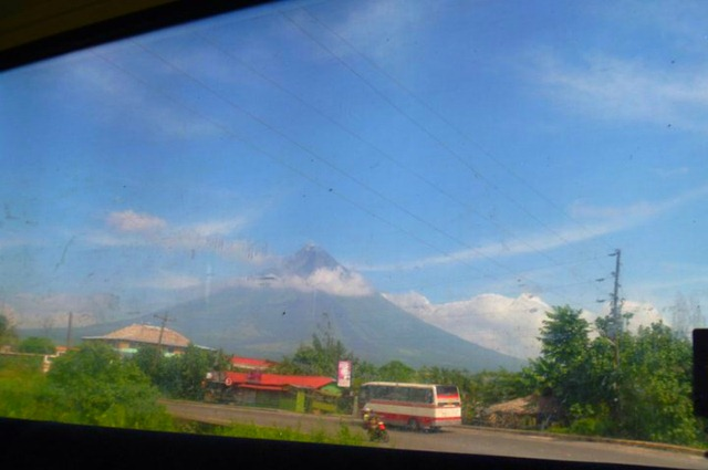 Mayon Volcano from Bulan Bus