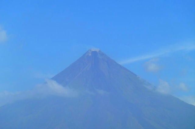 Mayon Volcano from Bulan Crater close-up