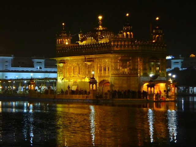 Amritsar - Golden Temple Night Close Up