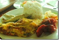 Day's Hotel Tagaytay - Breakfast Tocino Omelette Garlic Fried Rice Tuyo