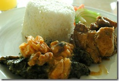 Day's Hotel Tagaytay - Lunch - pork and green leafy vegetables