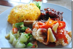 Day's Hotel Tagaytay - Lunch - Sweet and Sour Fish Fillet Buttered Vegetables Meat