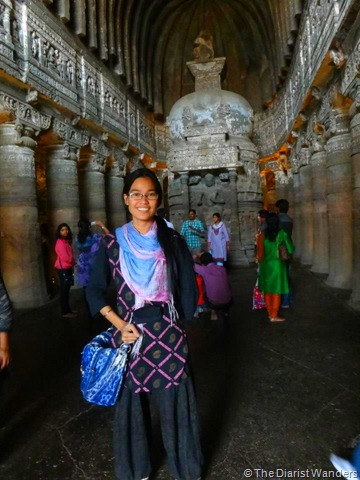My 25th in Travel - January Full and Preserved Stupa at Ajanta Caves in Aurangabad