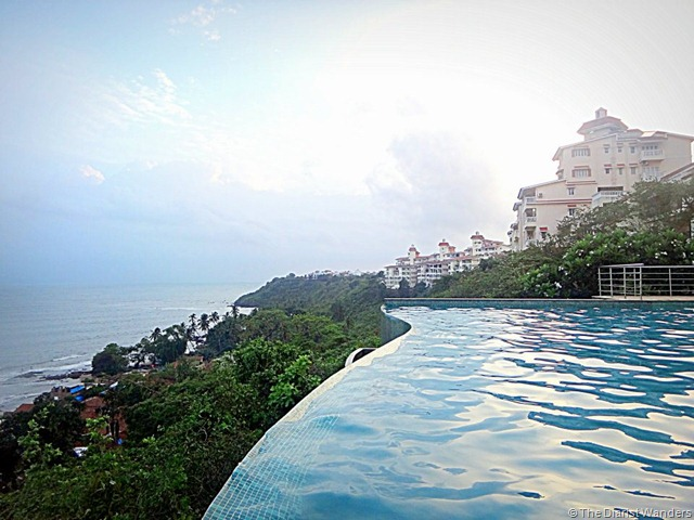 My 25th in Travel - June Infinity Pool and the Arabian Sea while CSing with Warren and the gang
