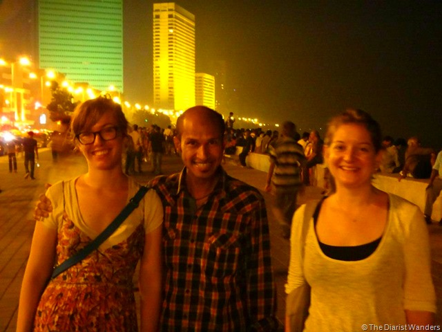 My 25th in Travel - November Walking through Chowpatty Marine Drive in Mumbai