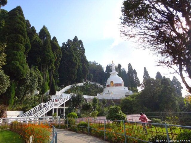 My 25th in Travel - October Japanese Peace Pagoda at Darjeeling