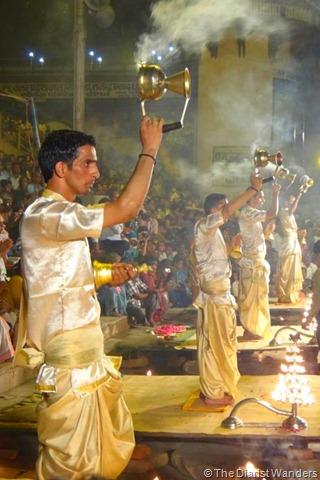 Varanasi Puja - Incense Smoke