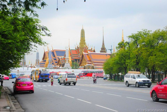 Backpacking SEA - Bangkok - First Glimpse of the Royal Palace (from outside)