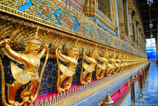 Backpacking SEA - Bangkok - Garudas at the Temple of the Emerald Buddha