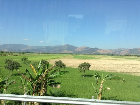 on the road - mountains and fields on the northwestern region