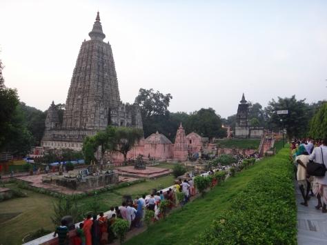 Pilgrims flock to Mahabodi Temple in Bodh Gaya, India (260 BC)