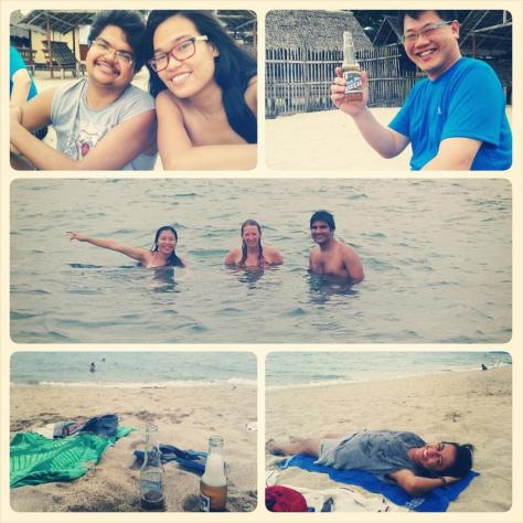 August - Laiya, Batangas with my CouchSurfer Gianna and friends