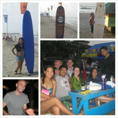 December - Photo Collage of Surfing Weekend in La Union