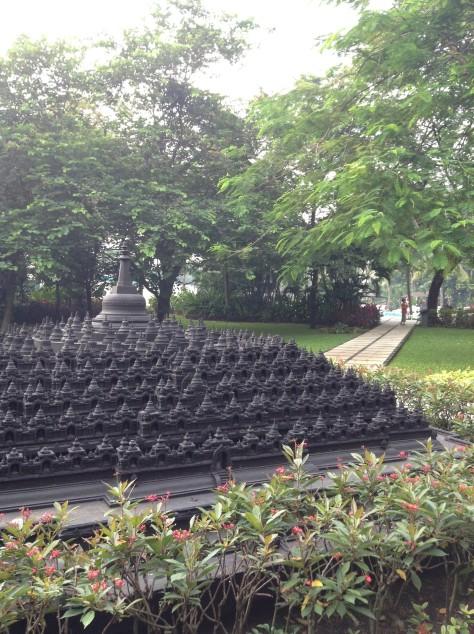 February - Borobudur Hotel Garden at Jakarta