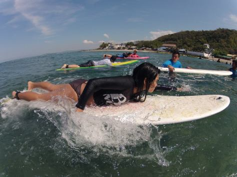 February - Paddling Faster during Surf Weekend in La Union