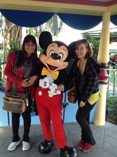 January - Disneyland at Hong Kong with Leah and Mickey