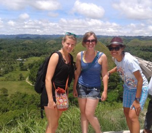 June - Chocolate Hills of Bohol with Simone and Visayas Island Hop with Leah