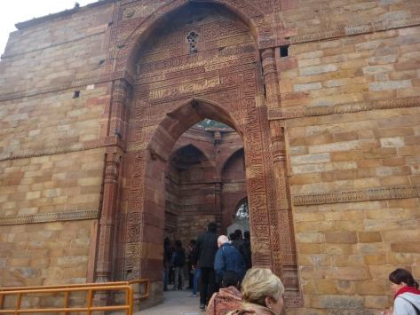 The impressive and intricate gateway of the Qutb Minar Complex