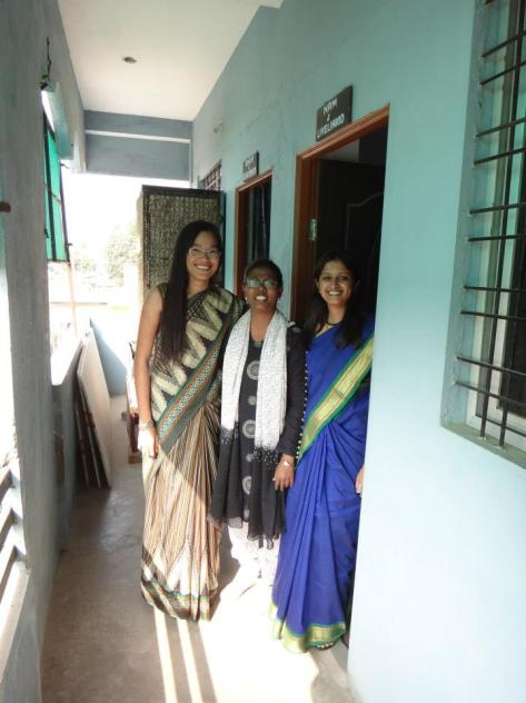 Me in my first saree with Samta and Ratna