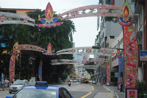 Massive Deepavali arcs at Little India, Singapore
