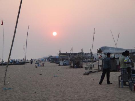 Full setting sun
