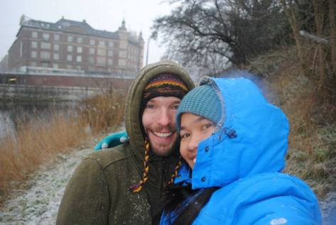 Crazy tropical-island-loving couple traveling through Europe through the Winter #TheTravelTest #EuroTrip2015 #WinterWonderland