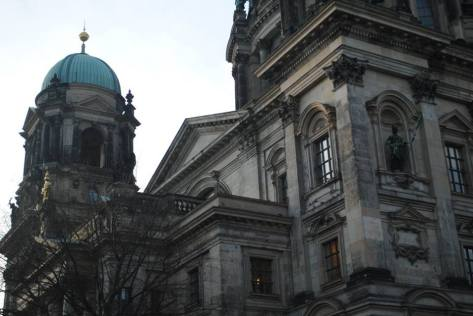 The Berlin Cathedral sports an intricately-detailed facade