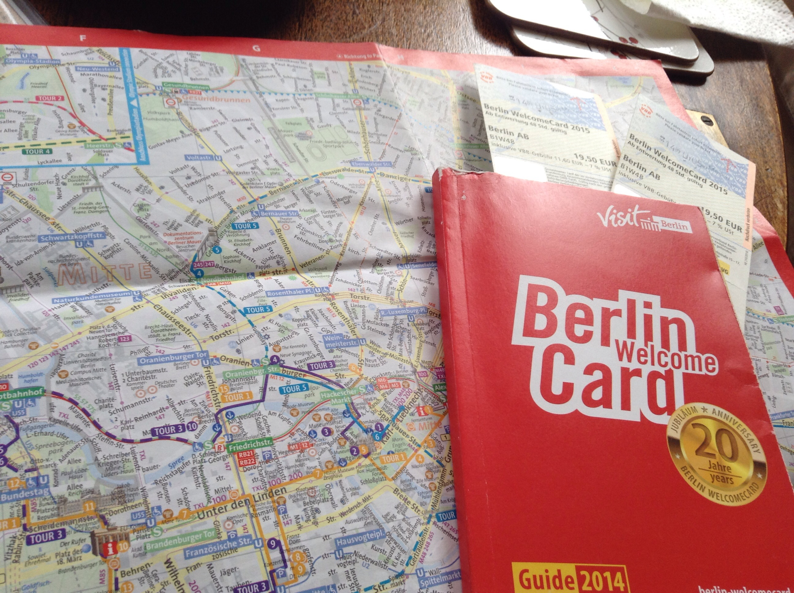 FotoFolio: Welcome Berlin Card and the Tour Map