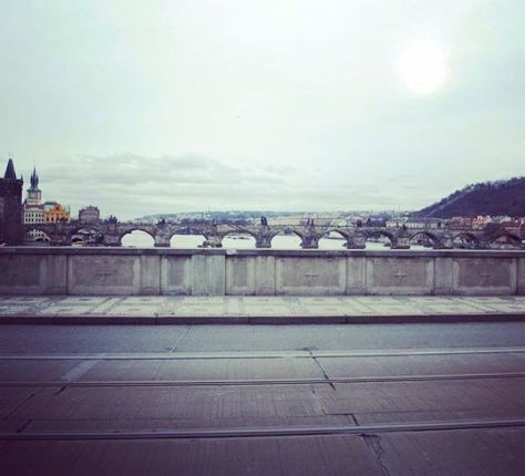 Charles Bridge and Vltava River, view from Čechův Bridge